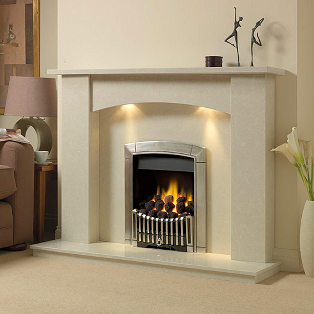 White Marble Fireplace : White marble fireplace surround walton