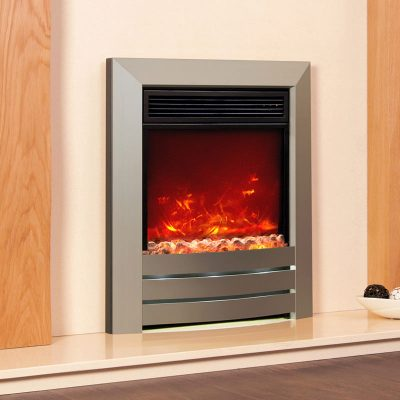Angelia Marble Electric Fireplace Full Package Marble