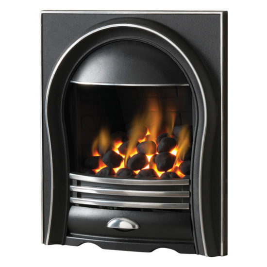 Pureglow Annabelle inset full depth gas fire shown with highlight finish