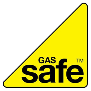 Gas Safe Register logo. Yellow triangle.