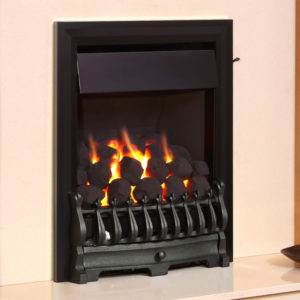 Flavel Richmond Plus gas fire shown in black