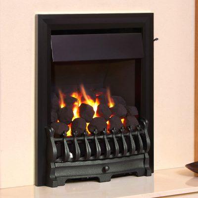 Flavel Richmond Plus gas fire shown in black