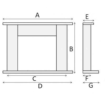 FIreplace dimensions with shelf