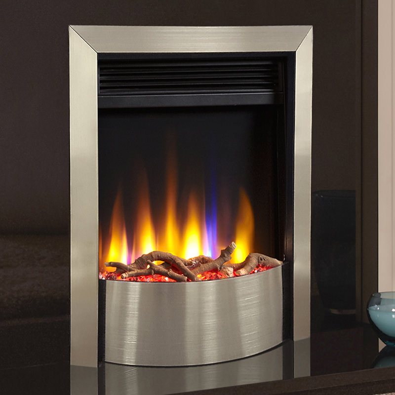 Celsi Ultiflame Vr Contemporary Electric Fire Silver Or